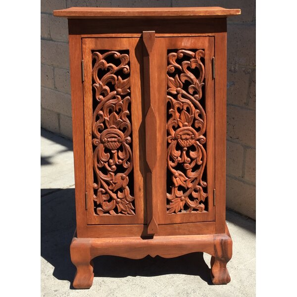 Harrow Carved 2 Door Accent Cabinet by World Menagerie