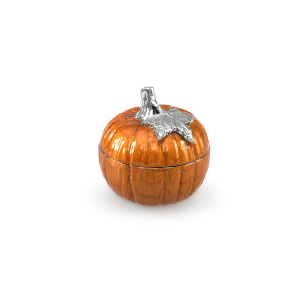Pumpkin 5 Covered Decorative Bowl by Julia Knight Inc