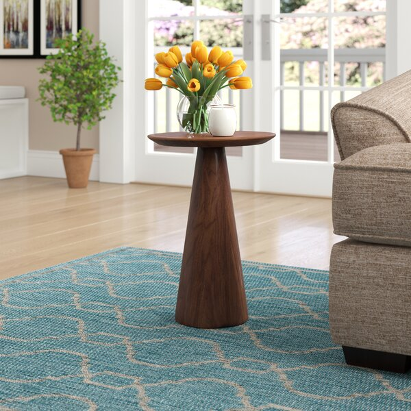 Review Dulles Pedestal End Table