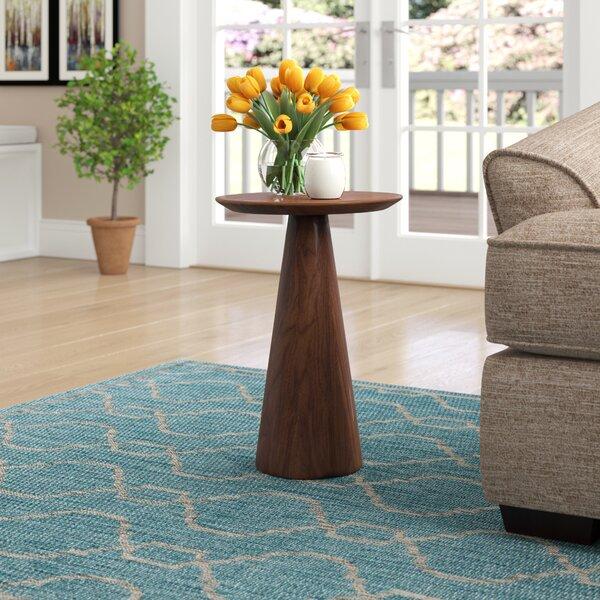 Dulles Pedestal End Table By Brayden Studio
