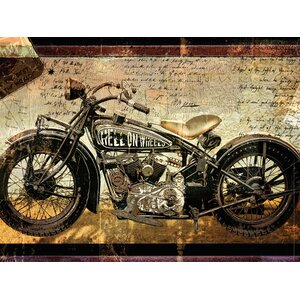 'Hell on Wheels' Painting Print on Wrapped Canvas by Red Barrel Studio
