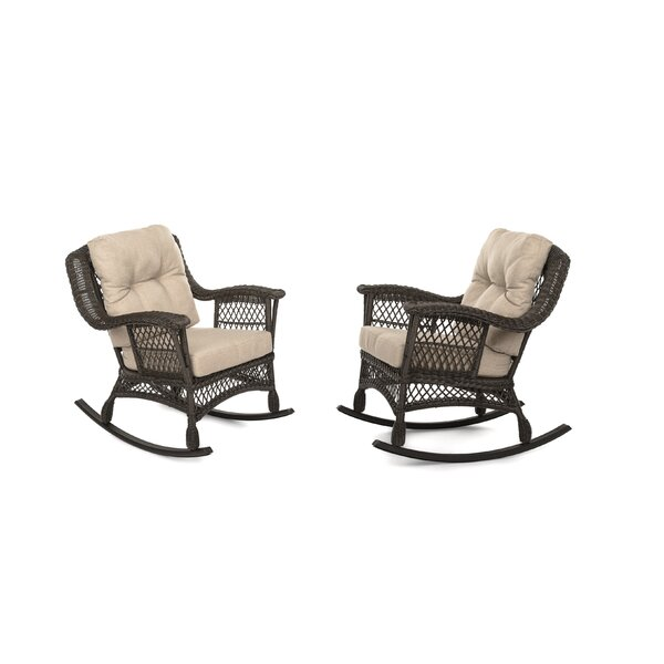 Rubino Garden Rocking Patio Chair with Cushions (Set of 2) by August Grove