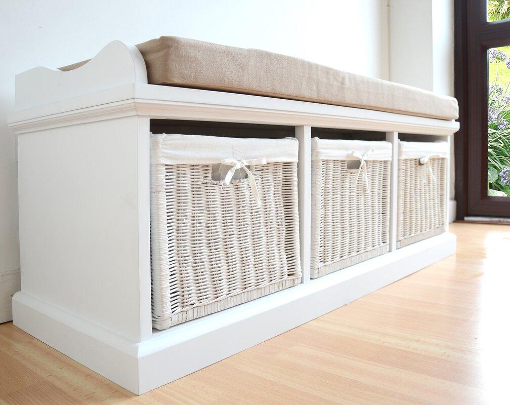 Sommerallee Sitzbank Laurentides aus Holz mit Stauraum ...