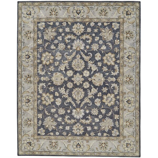 Barrview Hand-Tufted Wool Charcoal Area Rug by Charlton Home