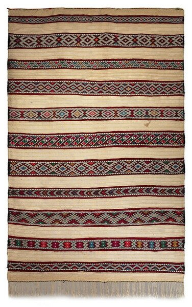 Berber Kilim Hand-Woven Area Rug by Casablanca Market