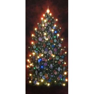 Attirant Indoor LED Happy Christmas Tree Graphic Art