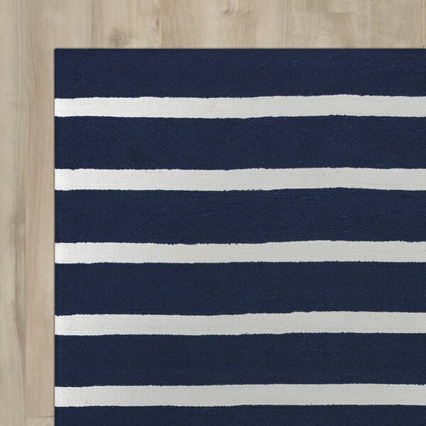 Lyndon Hand-Tufted Indigo Indoor/Outdoor Area Rug by Beachcrest Home