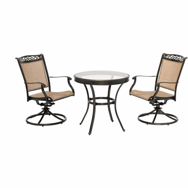 Groom Patio Garden 3 Piece Bistro Set by Fleur De Lis Living