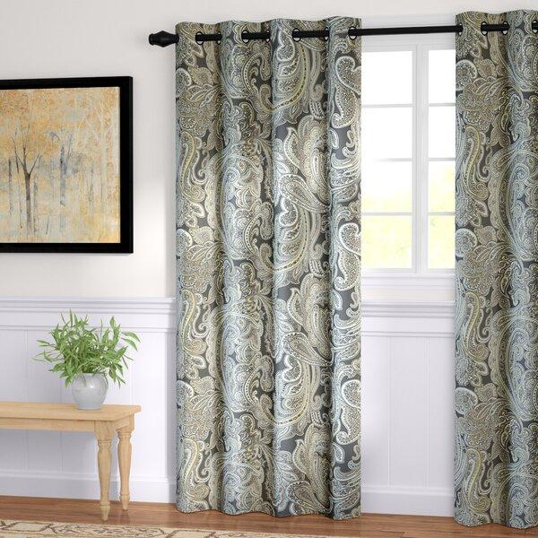 Haffner Paisley Room Darkening Grommet Single Curtain Panel by Andover Mills