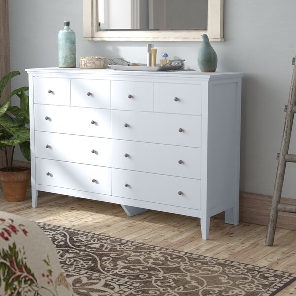 Sonja 8 Drawer Double Dresser with Mirror by Laurel Foundry Modern Farmhouse