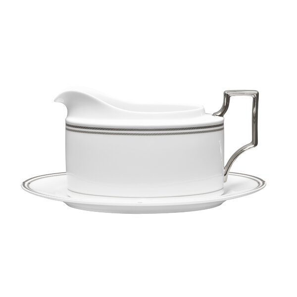 Aidan 2 Piece Bone China Gravy Boat Set by Noritake
