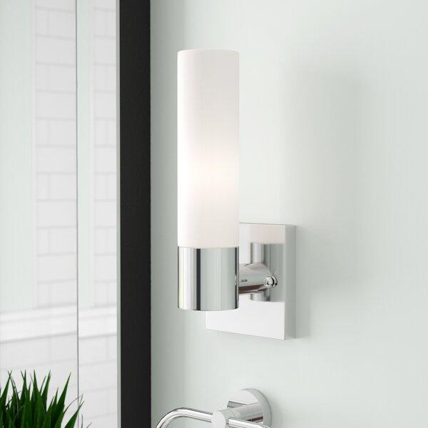 Kneeland 1-Light Drum/Cylinder Shade Bath Sconce by Zipcode Design