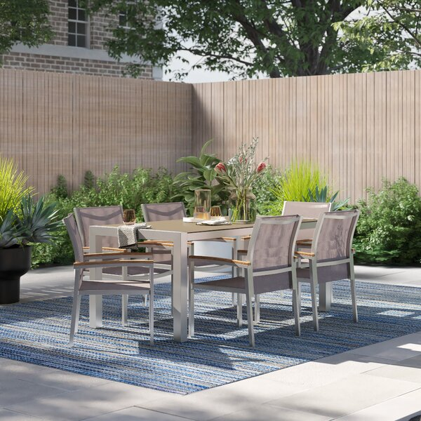 Cara Outdoor 7 Piece Dining Set by Foundstone