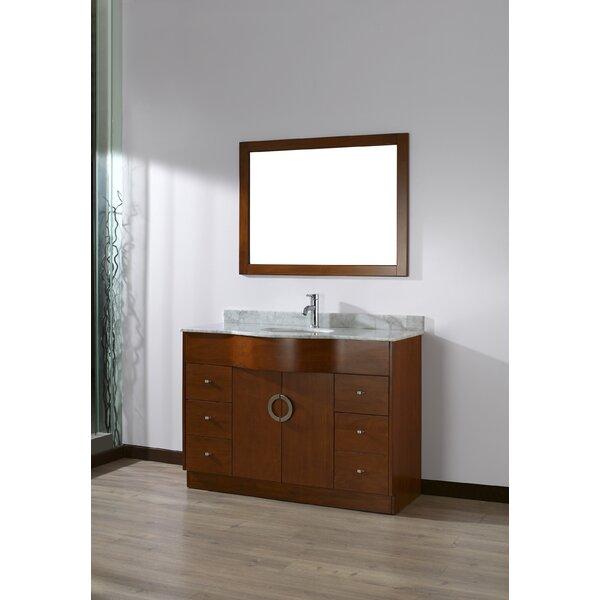 Zed 48 Single Bathroom Vanity Set with Mirror by Bauhaus Bath