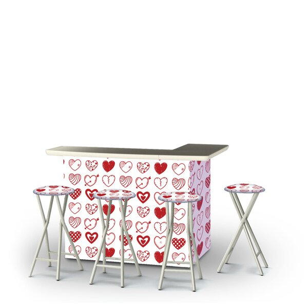 Yokley Valentines Hearts 5-Piece Bar Set by East Urban Home
