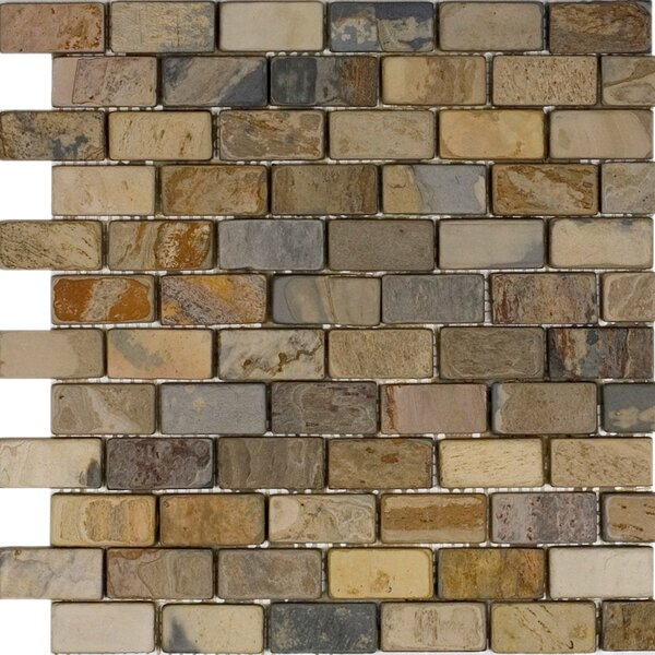 1 x 2 Slate Mosaic Tile in Fall by Epoch Architectural Surfaces