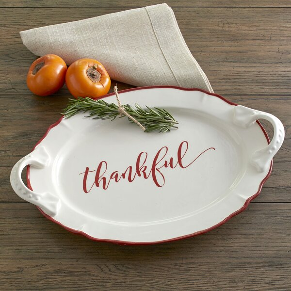 Thankful Serving Platter by Birch Lane™