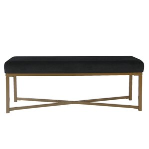 Wychwood Rectangle Velvet Bench by Varick Gallery