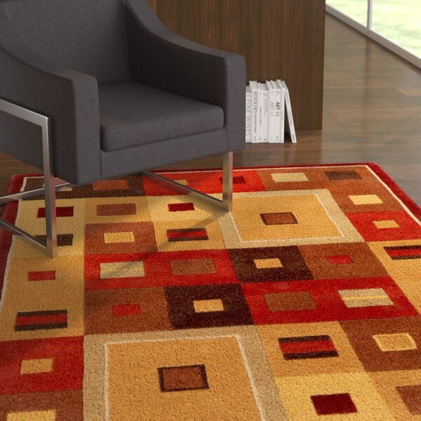 Dewald Burgundy Area Rug by Ebern Designs