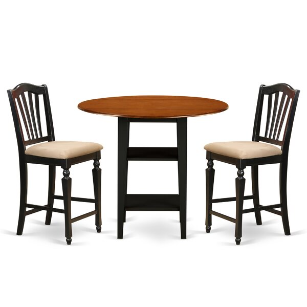 Tyshawn Counter Height 3 Piece Pub Table Set by Charlton Home Charlton Home
