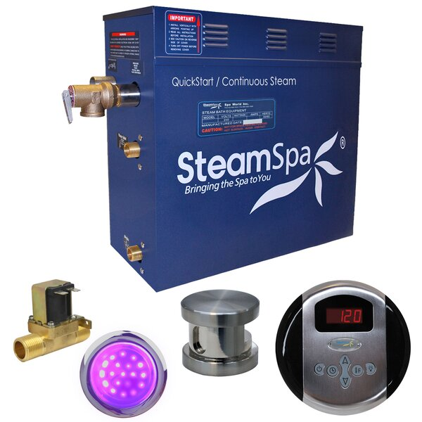 Indulgence 6 kW QuickStart Steam Bath Generator Package with Built-in Auto Drain by Steam Spa
