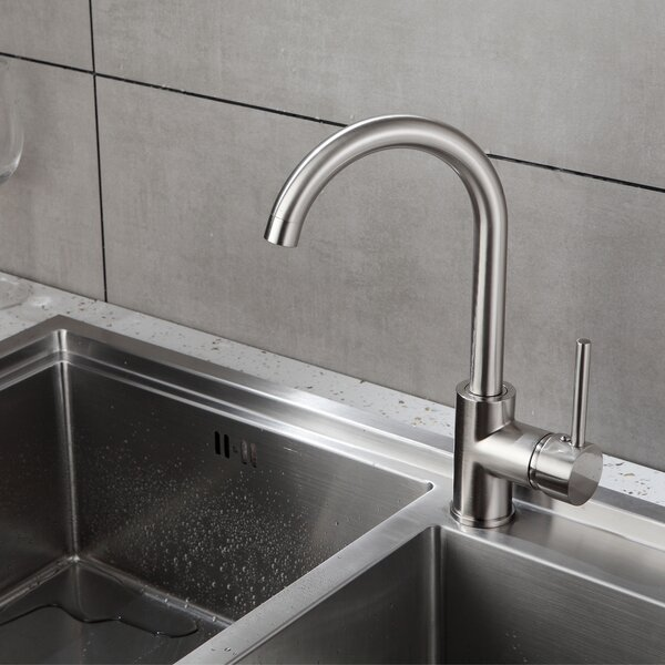 Brass Touch Single Handle Kitchen Faucet By KANGJU