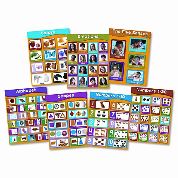 Early Learning Chartlet Chart Set by Carson-Dellosa Publishing