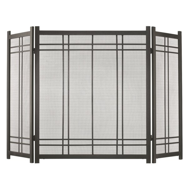 Preston 3 Panel Steel Fireplace Screen By Pleasant Hearth
