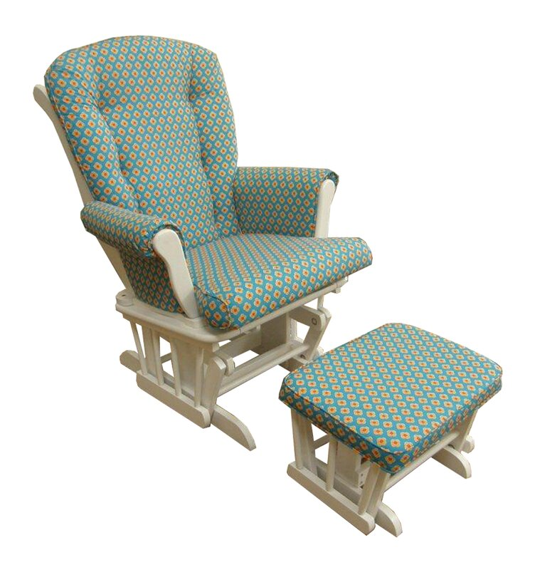 Royston Floral Glider And Ottoman By Harriet Bee Good