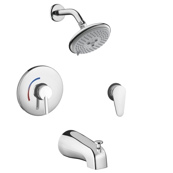 Focus S HG Pressure Balance Tub and Shower Faucet with Lever Handle by Hansgrohe
