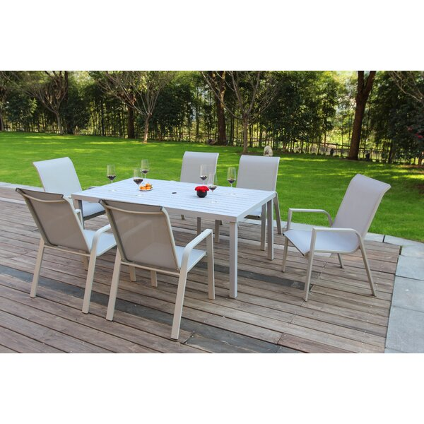 Vivian 7 Piece Dining Set By Ebern Designs