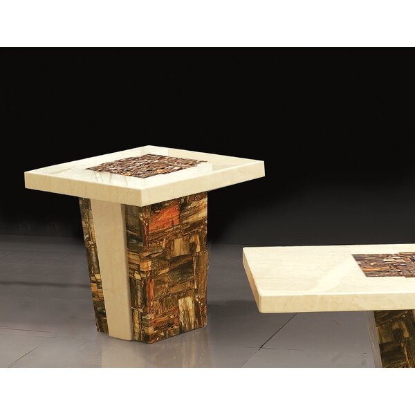 Adamson Pedestal End Table by Foundry Select Foundry Select