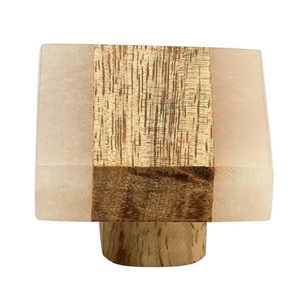 Frosted Timber Cabinet Square Knob Multipack (Set of 8) by Mascot Hardware