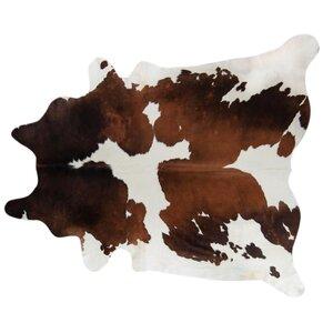 Handmade Brown/White Area Rug