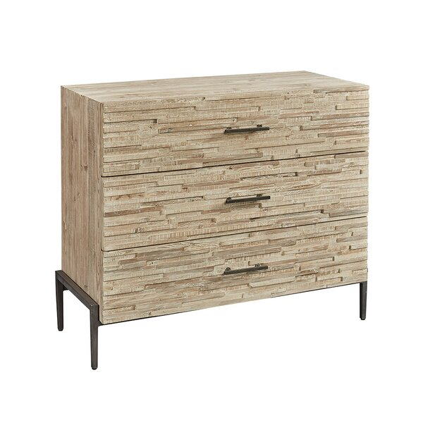 Peery 3 Drawer Standard Dresser by Union Rustic