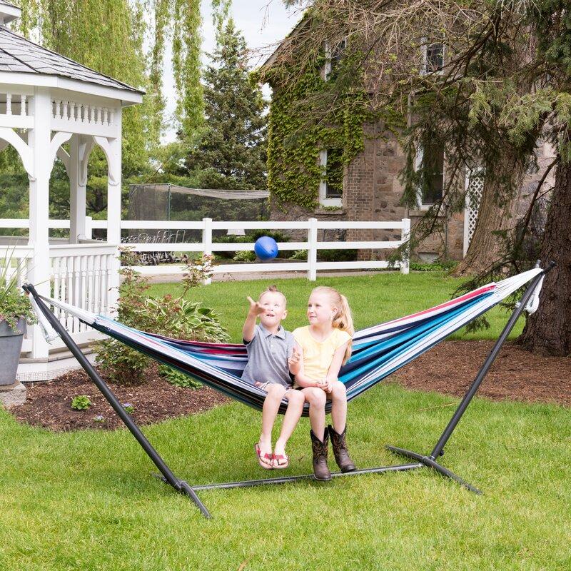 dorinda double hammock with stand beachcrest home dorinda double hammock with stand  u0026 reviews   wayfair  rh   wayfair
