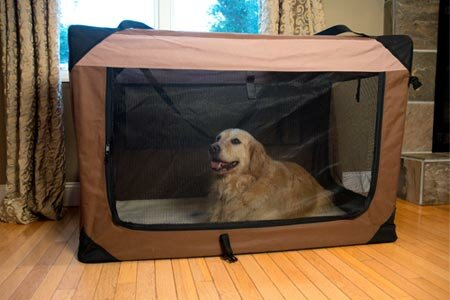 Catalina Multipurpose Pet Soft Crate with Fleece Mat by Tucker Murphy Pet