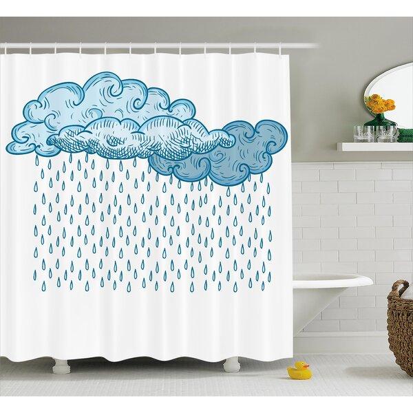 Rain Decor Shower Curtain by East Urban Home