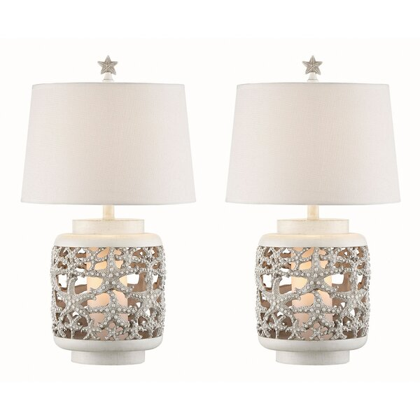 Cano Starfish 26 Table Lamp (Set of 2) by Rosecliff Heights