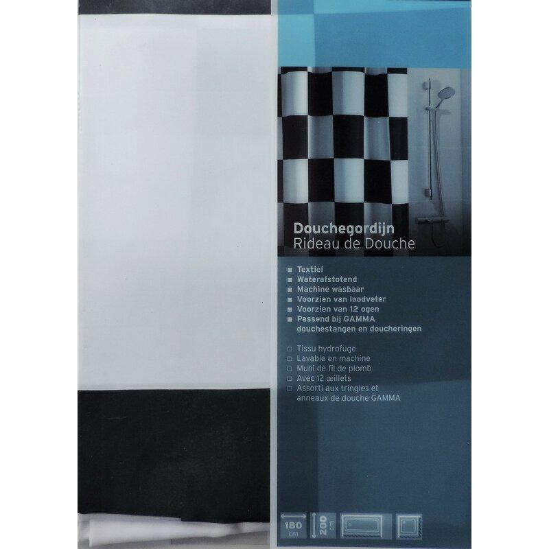 Loodveter 100 Gram.Ebern Designs Dripping Springs Checkered Flag Shower Curtain