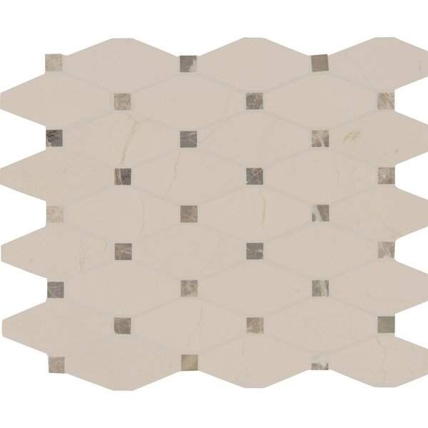 Valencia Blend Elongated Marble Mosaic Tile in Beige by MSI