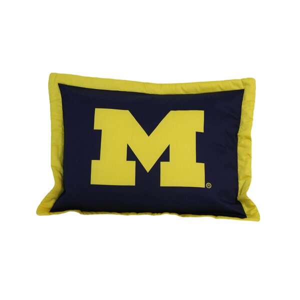 NCAA Michigan Pillow Sham by College Covers