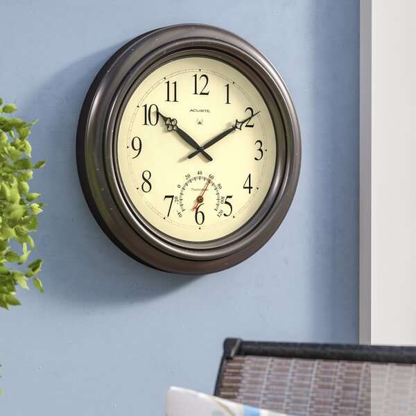 Oversized Humphrey 18 Round Outdoor Radio-Controlled Clock by Darby Home Co