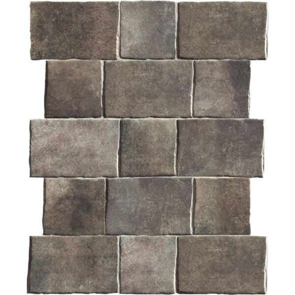 Geo-Tech Extruded 9 x 9 Porcelain Field Tile in Mountain by QDI Surfaces