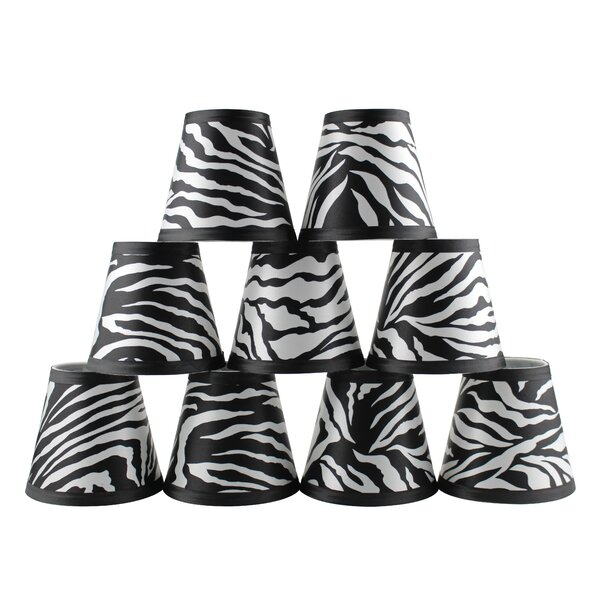 4.5 H Empire Lamp Shade ( Clip On ) in Black/White (Set of 9)