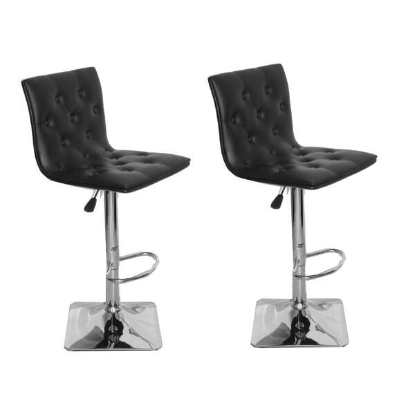 Adjustable Height Swivel Bar Stool (Set of 2) by Container