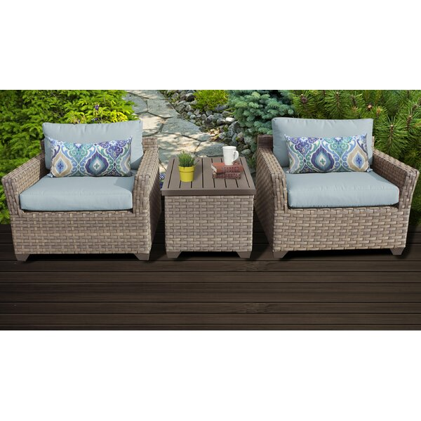 Rochford 3 Piece Rattan Seating Group with Cushions by Sol 72 Outdoor