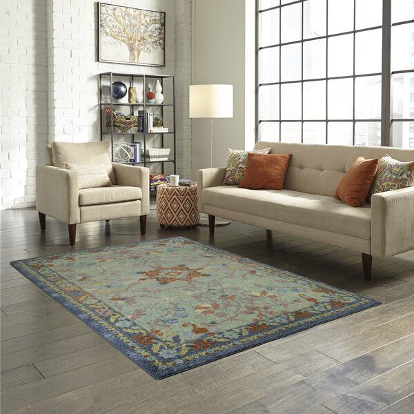Filkins Beige/Blue Area Rug by Bloomsbury Market