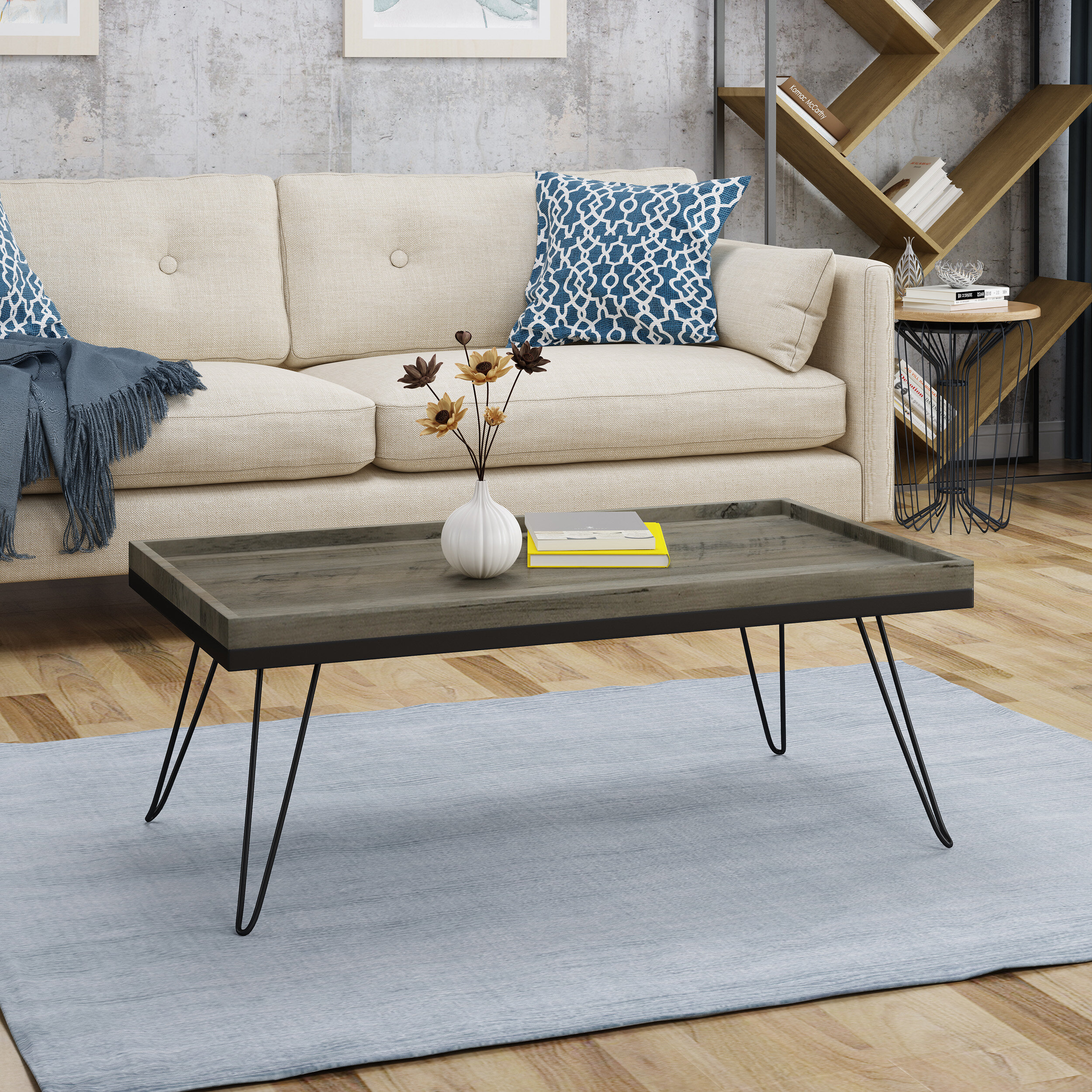 Phenomenal Gaston Industrial Modern Coffee Table With Tray Top Gamerscity Chair Design For Home Gamerscityorg