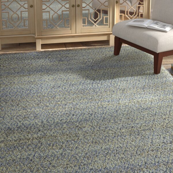 Azaria Hand-Woven Blue Area Rug by Bungalow Rose